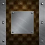 Aluminiumfeld verriegelte an eine Kohlenstofffaser Lizenzfreie Stockfotografie