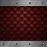 Aluminiumfeld verriegelte an eine Kohlenstofffaser Lizenzfreie Stockbilder