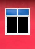 Aluminiumfenster mit bunten Wänden Lizenzfreie Stockfotos