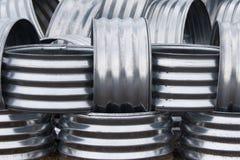 Aluminiumfeuer-Ringe Stockfotos