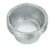 Aluminiumfoliebehälter Stockbild