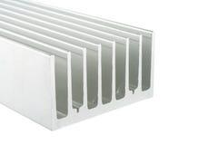 Aluminiumkühlkörper Stockfoto