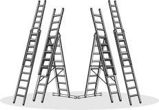 Aluminiumladders Royalty-vrije Stock Afbeelding
