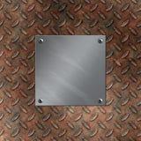 Aluminiumplatte und verrostetes Diamantmetall Stockfotos