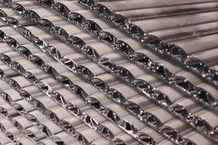 Aluminiumprofielen royalty-vrije stock foto's