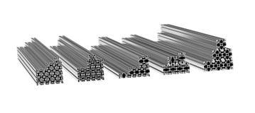 Aluminiumprofile Lizenzfreies Stockbild