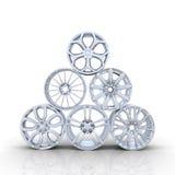 Aluminiumräder Stockbilder