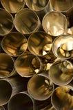 Aluminiumrohre Stockbilder