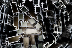 Aluminiumschrott für die Wiederverwertung Stockbild