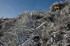 Aluminiumschrott für die Wiederverwertung Lizenzfreie Stockfotografie