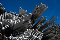 Aluminiumschrott für die Wiederverwertung Lizenzfreies Stockbild
