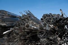 Aluminiumschrott für die Wiederverwertung Stockfotografie