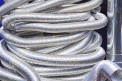 Aluminiumslangar Arkivbild