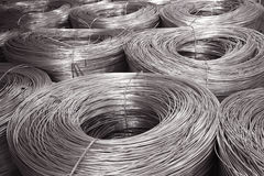 Aluminiumwaren Stockfoto