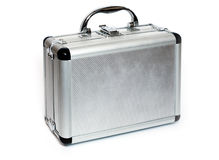 Aluminiun suitcase Royalty Free Stock Images