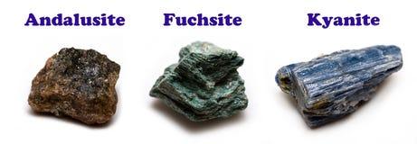 Aluminosilicate minerals stock image