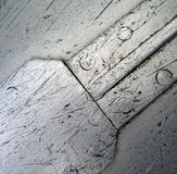 Aluminum abstract. Photo of the bottom of a worm canoe Stock Photography