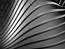 Aluminum abstract silver curve stripe background Royalty Free Stock Photography
