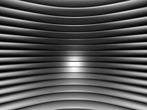 Aluminum abstract silver curve stripe pattern. Background 3d illustration Stock Photo
