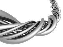 Aluminum abstract silver string Stock Photo
