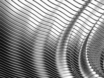 Aluminum abstract silver stripe pattern Royalty Free Stock Photography