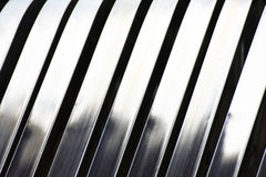 Aluminum abstract silver stripe pattern Royalty Free Stock Photos