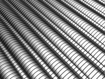 Aluminum abstract silver stripe pattern background. 3d illustration Royalty Free Stock Photo