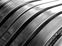 Aluminum silver stripe pattern Royalty Free Stock Photography