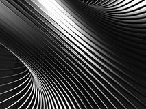 Aluminum Abstract Silver Stripe Pattern Background. 3d render illustration Royalty Free Stock Photo