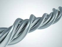 Aluminum abstract string artwork background. 3d illustration Royalty Free Stock Photography
