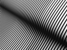 Aluminum abstract stripe pattern Stock Image