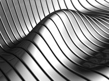 Aluminum abstract wave stripe pattern. Aluminum abstract silver wave pattern background 3d illustration Royalty Free Stock Photos
