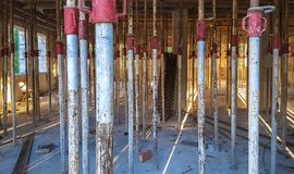 Floor formwork. Aluminum alloy formwork for construction royalty free stock images