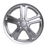 Aluminum alloy wheel. 3D illustration high quality resolution. Royalty Free Stock Images