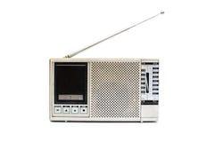 Aluminum antique radio. Isolated on white background Stock Image