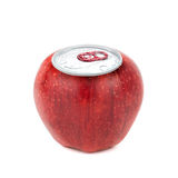 Aluminum apple Stock Image