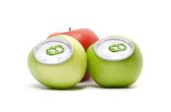 Aluminum apples Stock Image