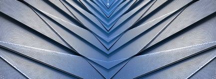 Aluminum Architectural Detail Contemporary Building Stock Photo