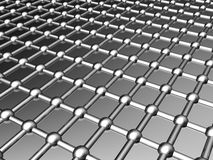 Aluminum background. Aluminum lattice silver pattern background 3d illustration Royalty Free Stock Photo