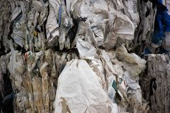 Aluminum, background, broken, car, collecting, construction, courtyard, dev. Scrap is not garbage but the valuable raw material from the new is created and thus stock photo