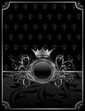 Aluminum background with ornamental medallion Royalty Free Stock Image