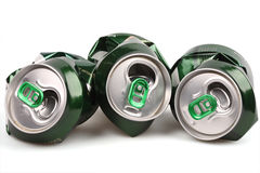 Aluminum beer Bank Royalty Free Stock Images