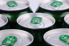 Aluminum beer Bank Stock Images