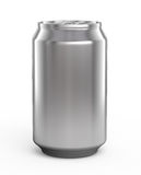 Aluminum beer can. Isolated over white Stock Images