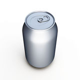Aluminum beer can  over white Stock Photography