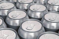 Aluminum beer cans Stock Photos