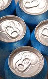 Aluminum beverage drink cans Stock Photography