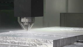 Aluminum billet surface cleaning. Stock Photo