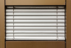 Aluminum blinds on the window Royalty Free Stock Photo
