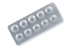 Aluminum of blister pack Royalty Free Stock Photos